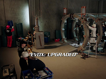 "Title Card for ""Evox: Upgraded""."