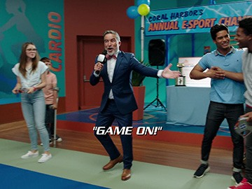 "Title Card for ""Game On!""."