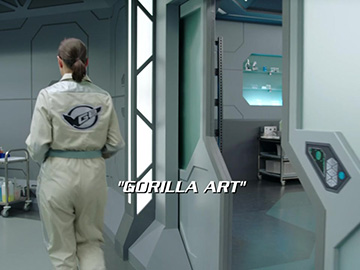 "Title Card for ""Gorilla Art""."