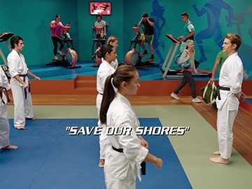 "Title Card for ""Save Our Shores""."