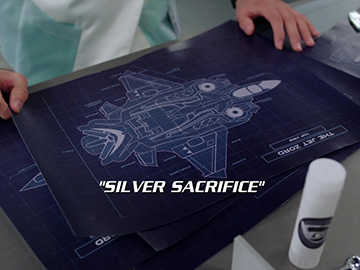 "Title Card for ""Silver Sacrifice""."