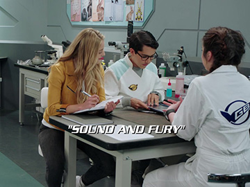 "Title Card for ""Sound and Fury""."