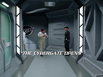 "Title Card for ""The Cybergate Opens""."
