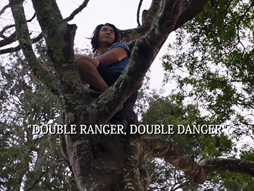 "Episode Title Card for ""Double Ranger, Double Danger""."