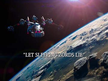 "Episode Title Card for ""Let Sleeping Zords Lie""."