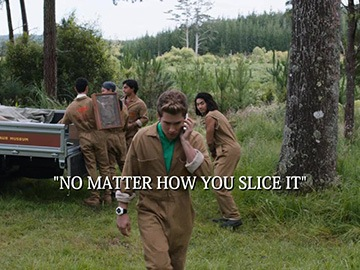 "Title Card for ""No Matter How You Slice It""."