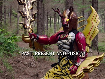 "Title Card for ""Past, Present and Fusion""."
