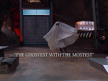 "Episode Title Card for ""The Ghostest with the Mostest""."