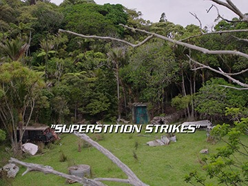 "Title Card for ""Superstition Strikes""."