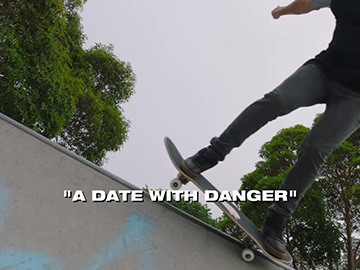 "Episode Title Card for ""A Date with Danger""."