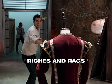 "Episode Title Card for ""Riches and Rags"""