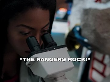 "Title Card for ""The Rangers Rock!""."