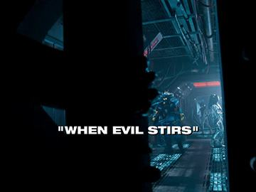 "Title Card for ""When Evil Stirs""."