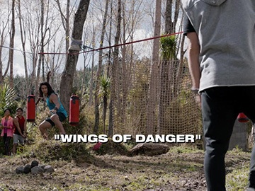 "Title Card for ""Wings of Danger""."