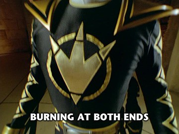 "Title Card for ""Burning at Both Ends""."