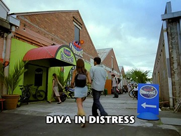 "Episode Title Card for ""Diva in Distress""."