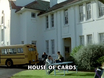 "Episode Title Card for ""House of Cards""."