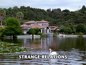 "Title Card for ""Strange Relations""."