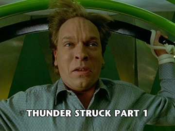 "Title Card for ""Thunder Struck Part 1""."