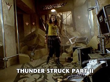 "Title Card for ""Thunder Struck Part II""."