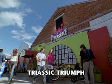 "Title Card for ""Triassic Triumph""."