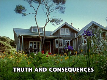 "Title Card for ""Truth and Consequences""."