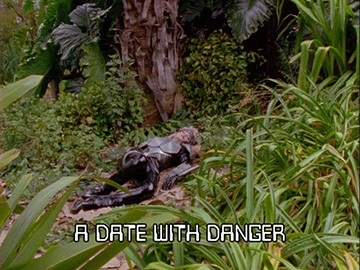 "Title Card for ""A Date with Danger""."