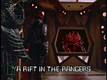"Title Card for ""A Rift in the Rangers""."