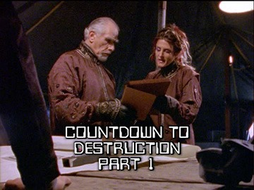 "Title Card for ""Countdown to Destruction Part 1""."