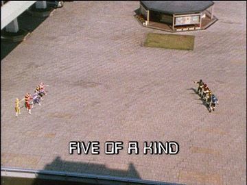"Title Card for ""Five of a Kind""."