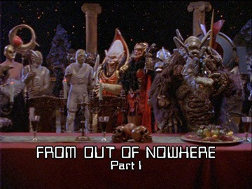 "Title Card for ""From Out of Nowhere Part I""."
