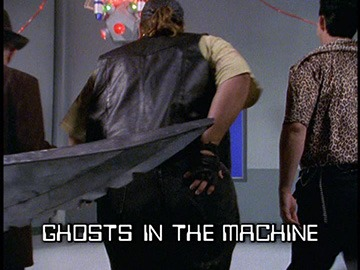 "Title Card for ""Ghosts in the Machine""."