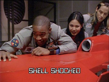 "Episode Title Card for ""Shell Shocked""."