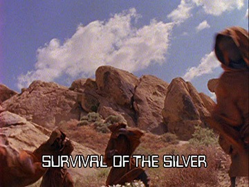 "Episode Title Card for ""Survival of the Silver""."