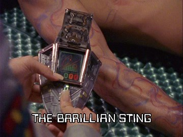"Episode Title Card for ""The Barillian Sting"""