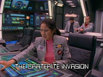 "Title Card for ""The Craterite Invasion""."