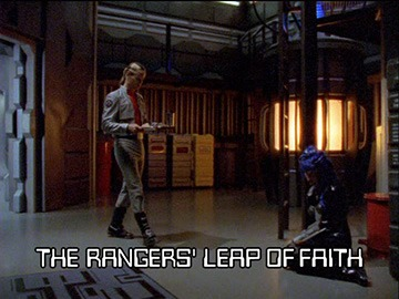 "Title Card for ""The Rangers' Leap of Faith""."