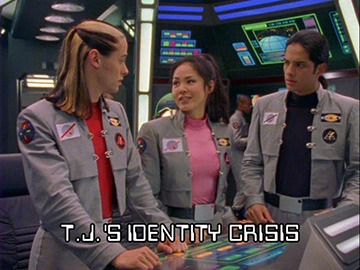 "Episode Title Card for ""T.J.'s Identity Crisis"""