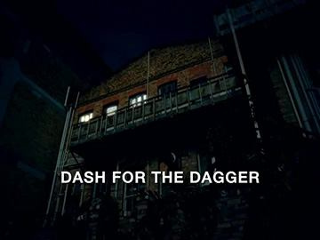 "Title Card for ""Dash for the Dagger""."