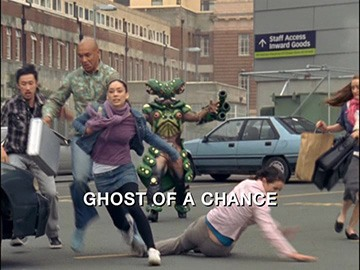 "Episode Title Card for ""Ghost of a Chance"""