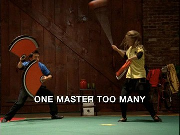 "Title Card for ""One Master Too Many""."
