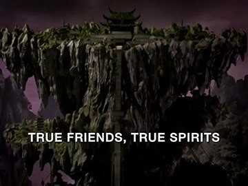 "Episode Title Card for ""True Friends, True Spirits""."