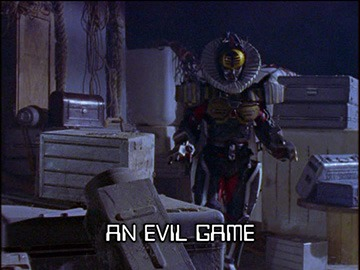 "Title Card for ""An Evil Game""."
