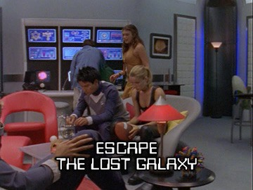 "Episode Title Card for ""Escape the Lost Galaxy""."