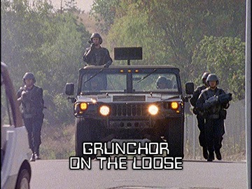 "Title Card for ""Grunchor on the Loose""."