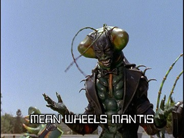 "Title Card for ""Mean Wheels Mantis""."