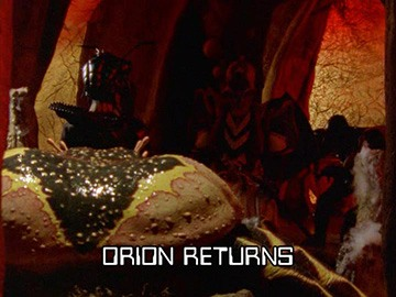 "Title Card for ""Orion Returns""."