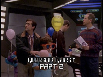 "Title Card for ""Quasar Quest Part 2""."