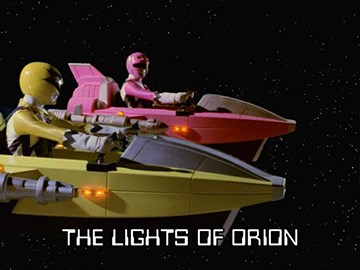 "Episode Title Card for ""The Lights of Orion""."