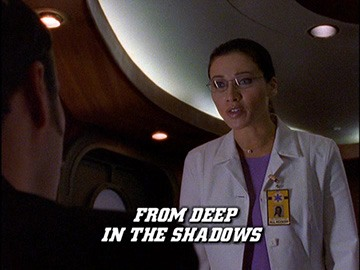"Episode Title Card for ""From Deep in the Shadows""."